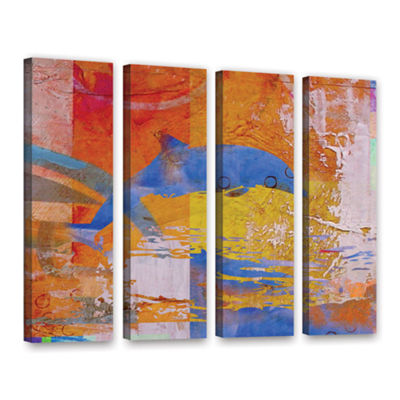 Brushstone Dolphin 4-pc. Gallery Wrapped Canvas Wall Art