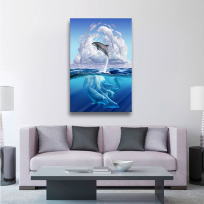 Brushstone Dolphonic Symp Gallery Wrapped Canvas Wall Art