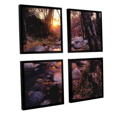Brushstone Domeland Wilderness 4-pc. Square Floater Framed Canvas Wall Art