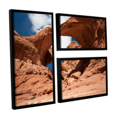 Brushstone Double Arch Horizontal 3-pc. Flag Floater Framed Canvas Wall Art