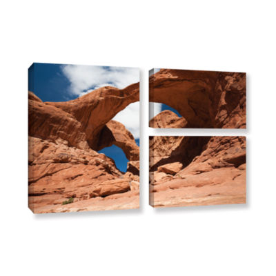 Brushstone Double Arch Horizontal 3-pc. Flag Gallery Wrapped Canvas Wall Art