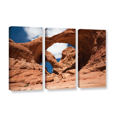 Brushstone Double Arch Horizontal 3-pc. Gallery Wrapped Canvas Wall Art