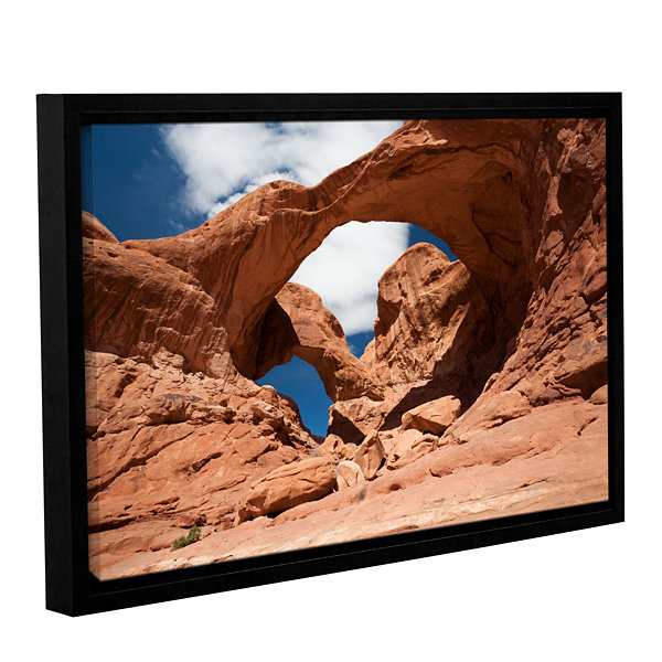 Brushstone Double Arch Horizontal Gallery WrappedFloater-Framed Canvas Wall Art