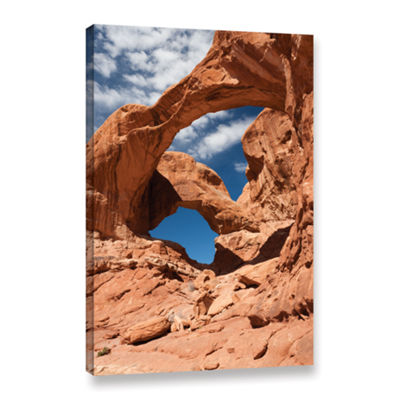 Brushstone Double Arch Vertical Gallery Wrapped Canvas Wall Art