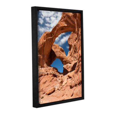 Brushstone Double Arch Vertical Gallery Wrapped Floater-Framed Canvas Wall Art