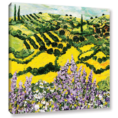 Brushstone Down The Hill Gallery Wrapped Canvas Wall Art