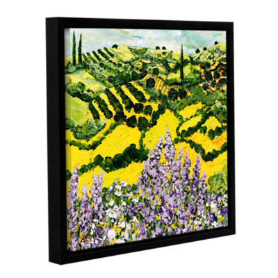 Brushstone Down The Hill Gallery Wrapped Floater-Framed Canvas Wall Art