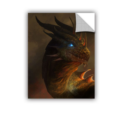 Brushstone Dragon Portrait Removable Wall Decal