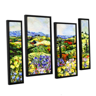 Brushstone Dream Valley 4-pc. Floater Framed Staggered Canvas Wall Art