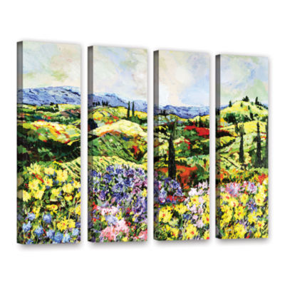 Brushstone Dream Valley 4-pc. Gallery Wrapped Canvas Wall Art