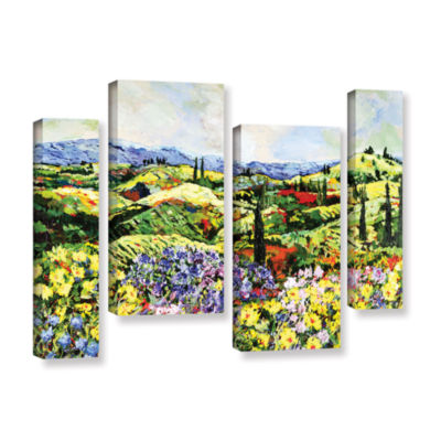 Brushstone Dream Valley 4-pc. Gallery Wrapped Staggered Canvas Wall Art
