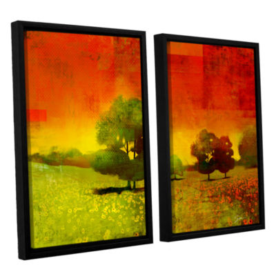 Brushstone Drenched Grace 2-pc. Floater Framed Canvas Wall Art