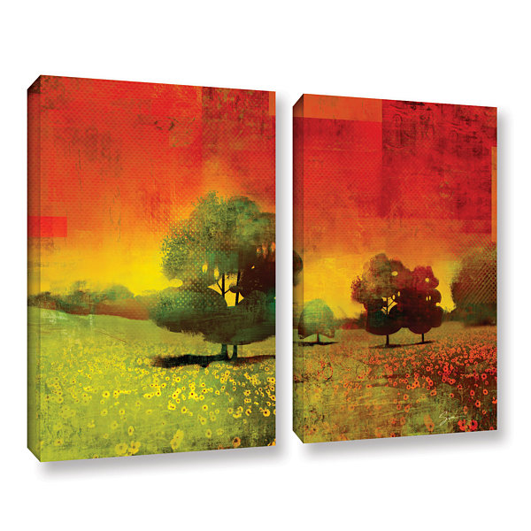 Brushstone Drenched Grace 2-pc. Gallery Wrapped Canvas Wall Art