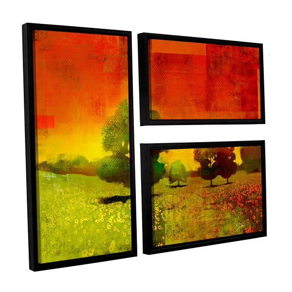 Brushstone Drenched Grace 3-pc. Flag Floater Framed Canvas Wall Art