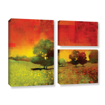 Brushstone Drenched Grace 3-pc. Flag Gallery Wrapped Canvas Wall Art