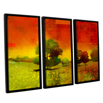 Brushstone Drenched Grace 3-pc. Floater Framed Canvas Wall Art