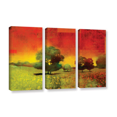 Brushstone Drenched Grace 3-pc. Gallery Wrapped Canvas Wall Art