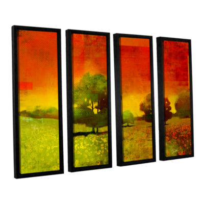 Brushstone Drenched Grace 4-pc. Floater Framed Canvas Wall Art