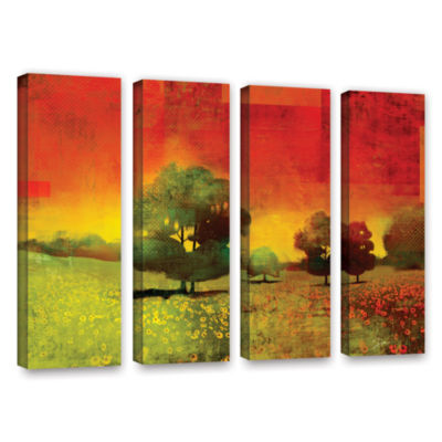Brushstone Drenched Grace 4-pc. Gallery Wrapped Canvas Wall Art