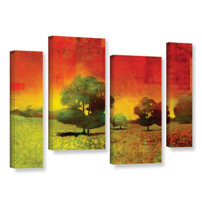 Brushstone Drenched Grace 4-pc. Gallery Wrapped Staggered Canvas Wall Art