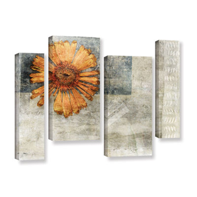Brushstone Dried Flower Abstract 4-pc. Gallery Wrapped Staggered Canvas Wall Art