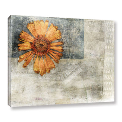 Brushstone Dried Flower Abstract Gallery Wrapped Canvas Wall Art