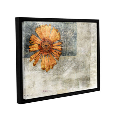 Brushstone Dried Flower Abstract Gallery Wrapped Floater-Framed Canvas Wall Art