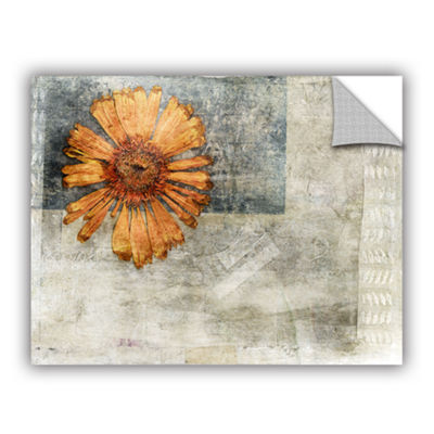 Brushstone Dried Flower Abstract Removable Wall Decal