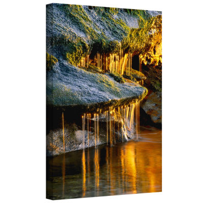Brushstone Dripping Sunlight Gallery Wrapped Canvas Wall Art