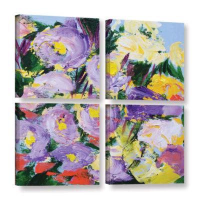 Brushstone Dumbarton Oaks Garden 4-pc. Square Gallery Wrapped Canvas Wall Art