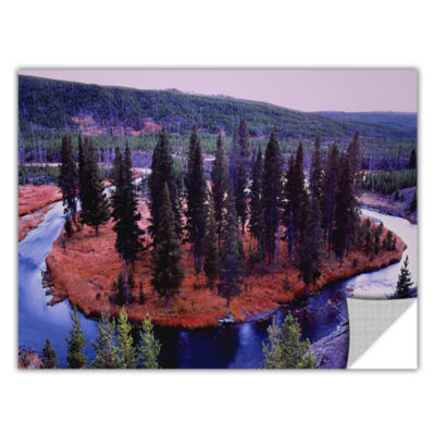 Brushstone Dusk Meander Yellowstone Removable WallDecal