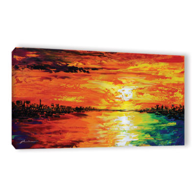 Brushstone Dusk's Dawn Gallery Wrapped Canvas WallArt