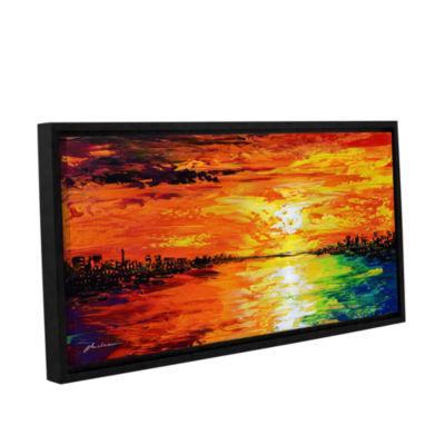 Brushstone Dusk's Dawn Gallery Wrapped Floater-Framed Canvas Wall Art