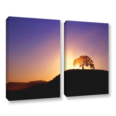 Brushstone Dust Cloud Sunset 2-pc. Gallery WrappedCanvas Wall Art