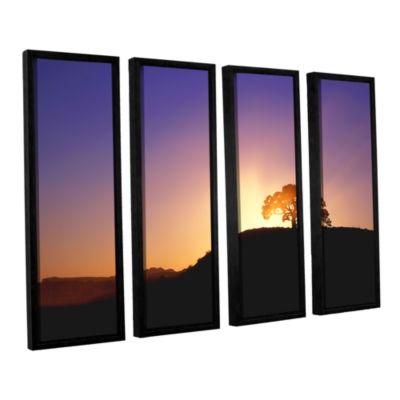 Brushstone Dust Cloud Sunset 4-pc. Floater FramedCanvas Wall Art