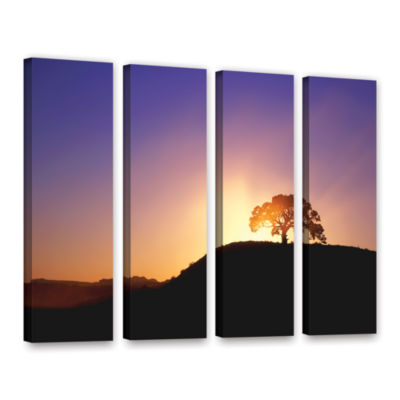 Brushstone Dust Cloud Sunset 4-pc. Gallery WrappedCanvas Wall Art