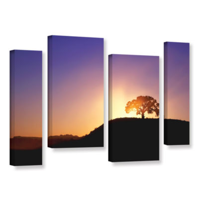 Brushstone Dust Cloud Sunset 4-pc. Gallery WrappedStaggered Canvas Wall Art