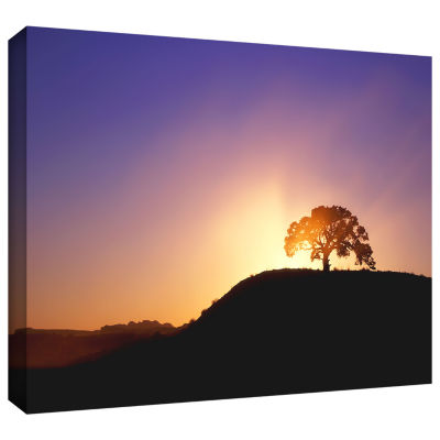 Brushstone Dust Cloud Sunset Gallery Wrapped Canvas Wall Art