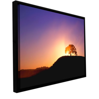 Brushstone Dust Cloud Sunset Gallery Wrapped Floater-Framed Canvas Wall Art