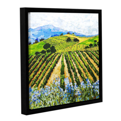 Brushstone Early Crop Gallery Wrapped Floater-Framed Canvas Wall Art
