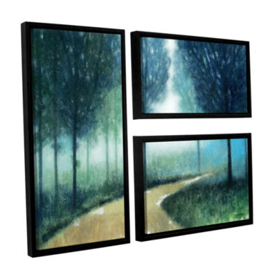 Brushstone Early Morning Mist 3-pc. Flag Floater Framed Canvas Wall Art