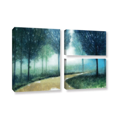Brushstone Early Morning Mist 3-pc. Flag Gallery Wrapped Canvas Wall Art
