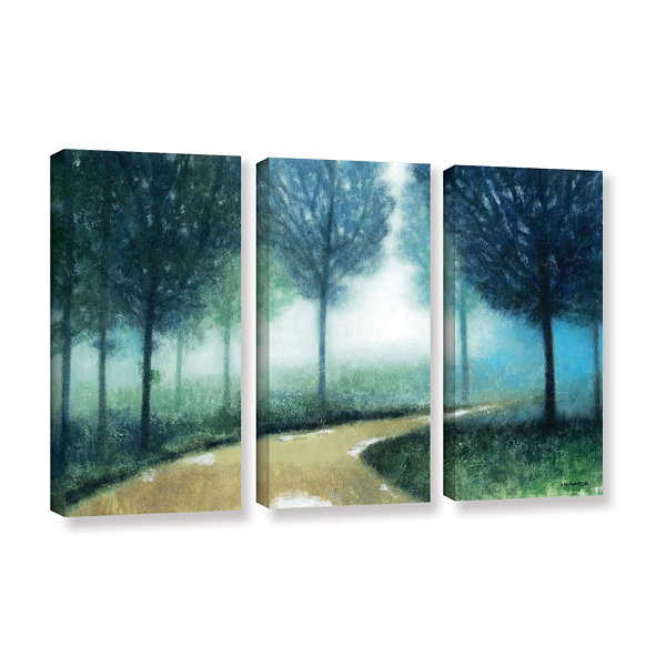 Brushstone Early Morning Mist 3-pc. Gallery Wrapped Canvas Wall Art