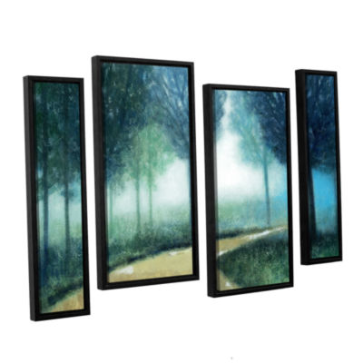 Brushstone Early Morning Mist 4-pc. Floater FramedStaggered Canvas Wall Art