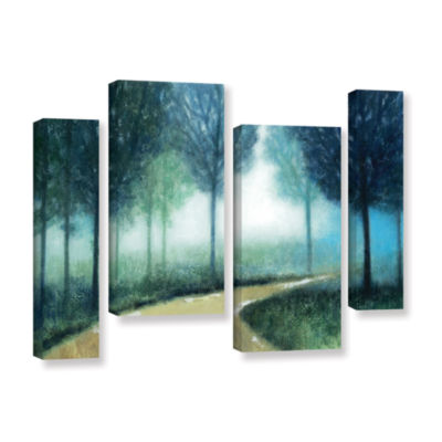 Brushstone Early Morning Mist 4-pc. Gallery Wrapped Staggered Canvas Wall Art