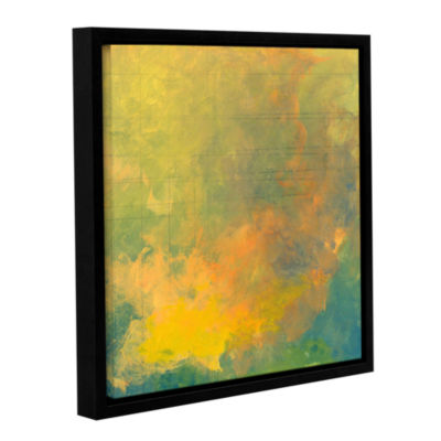 Brushstone Brushstone Earth And Lines I Gallery Wrapped Floater-Framed Canvas Wall Art