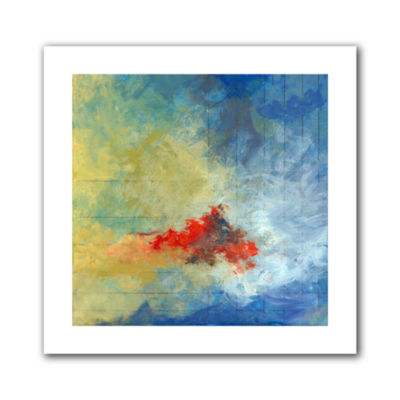 Brushstone Earth And Lines Ii Canvas Wall Art