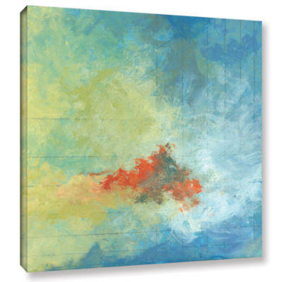 Brushstone Earth And Lines Ii Gallery Wrapped Canvas Wall Art