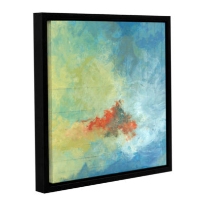Brushstone Earth And Lines Ii Gallery Wrapped Floater-Framed Canvas Wall Art