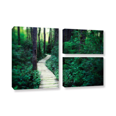 Brushstone Earth Path 3-pc. Flag Gallery Wrapped Canvas Wall Art